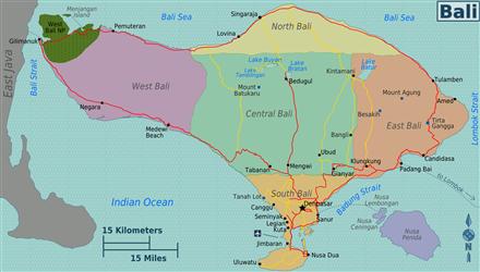 Kaart vab Bali