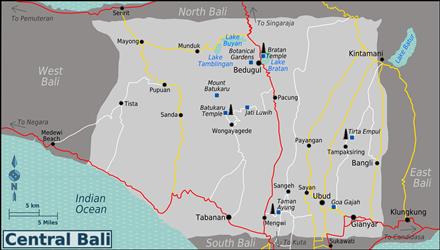 Kaart van Midden Bali