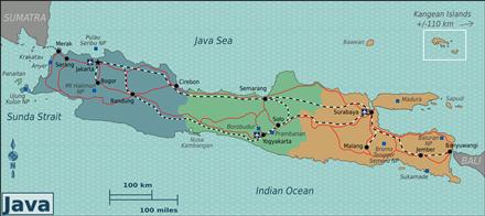 Kaart van Java