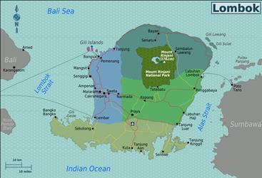 Kaart van Lombok